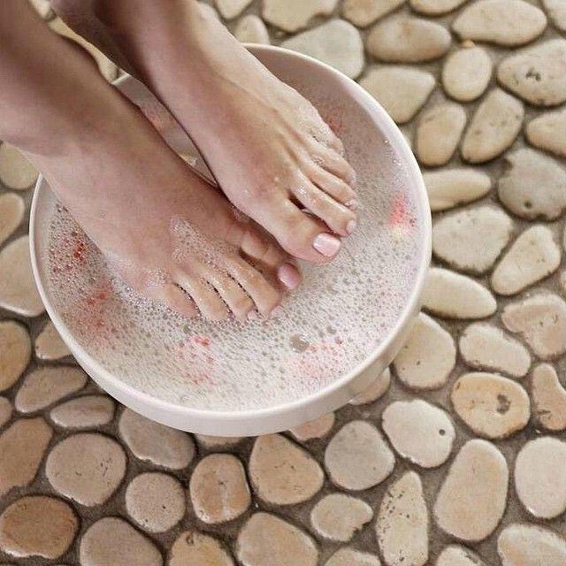 Epsom salt foot soak, Foot soaks and Pedicures on Pinterest