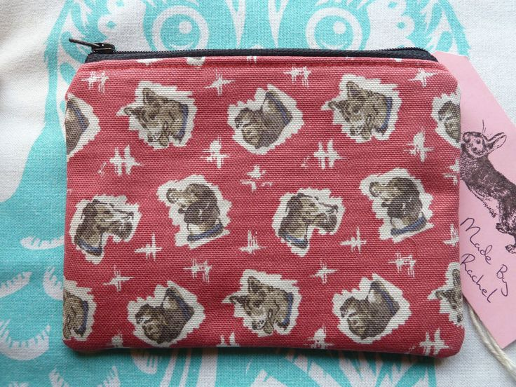 Handmade Small Makeup Bag Coin Purse Cath Kidston Retro Looking Fabric Rare Dogs in Clothes, Shoes & Accessories, Women's Accessories, Purses & Wallets | eBay