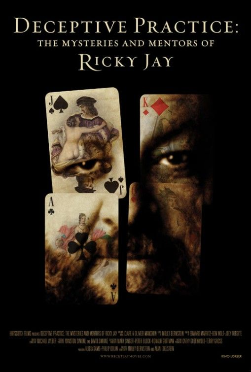 189. Deceptive Practice: The Mysteries and Mentors of Ricky Jay (Molly Bernstein & Alan Edelstein, 2012): 3/5
