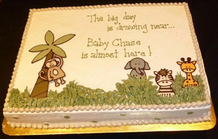 Baby Shower Cake Sayings For Jungle Theme