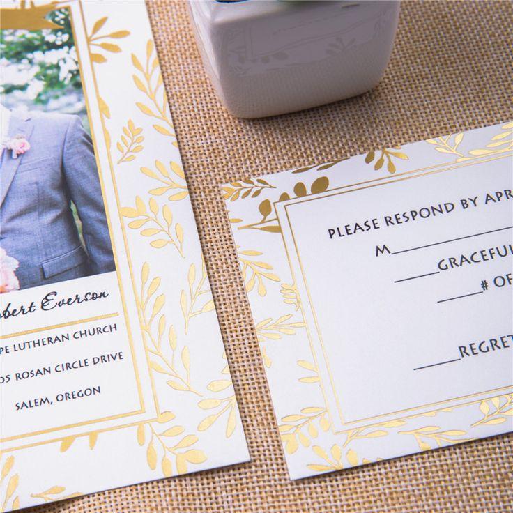 pocket wedding invites australia%0A Oku  Foil Stamped Invitation