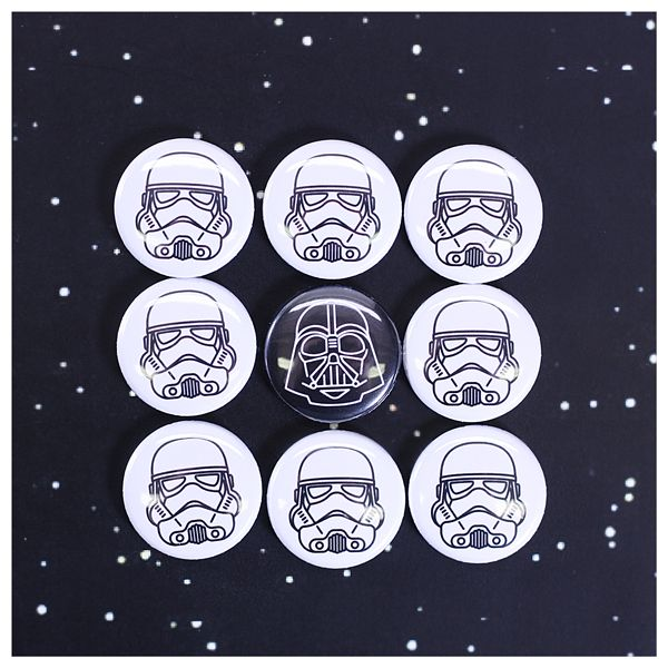 Here at People Power Press, we don't really care if you are on the dark side or the light side, as long as you are on the button side! Star Wars pins. https://peoplepowerpress.org/blogs/news/intergalatic-button-forces