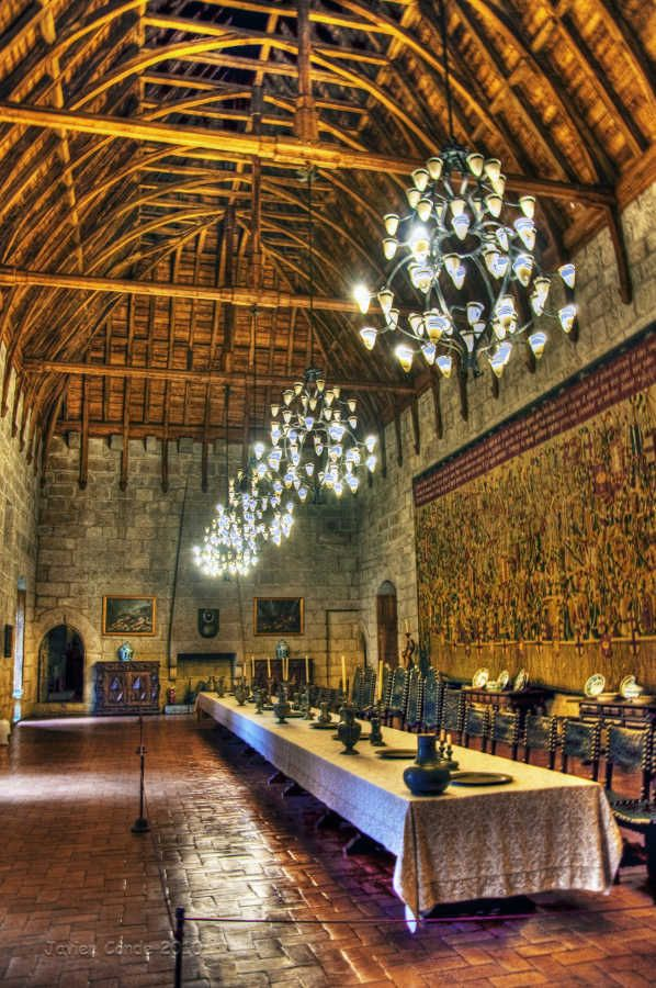 Palácio dos Duques de Bragança ,Portugal. One of the most interesting and beautiful palaces ever. What a great history! What a decor! Definitely a must see