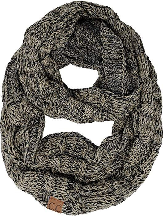 099ef4b09db S1-6100-60 Funky Junque Infinity Scarf - Beige at Amazon Women s Clothing  store