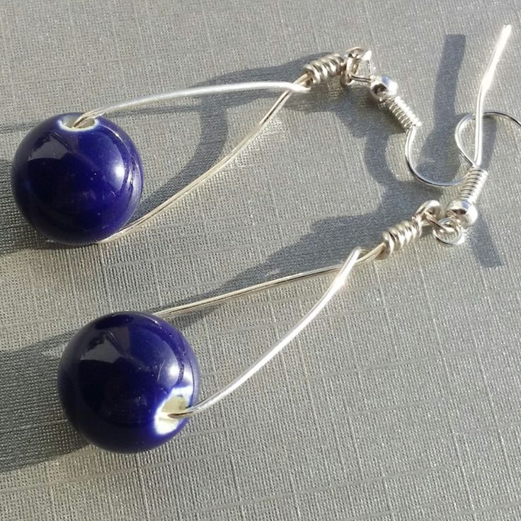 New listing! Chunky Bead Drop Earrings. Would you like them in another colour? Send me a request.