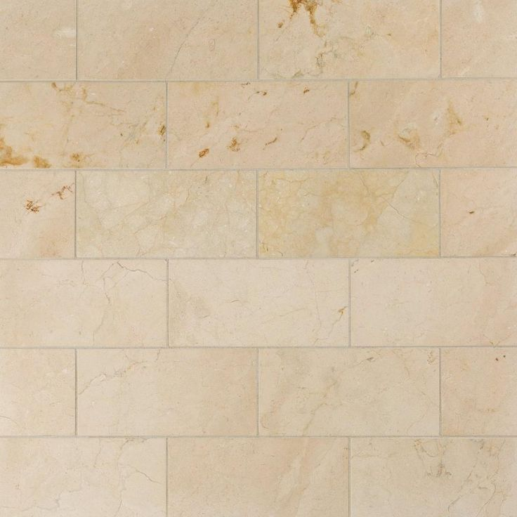 Crema Marfil Honed Marble Tile - 6 x 12 - 100105097 | Floor and Decor