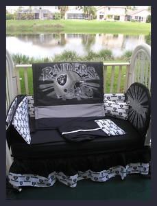 Oakland Raiders Crib Bedding Set