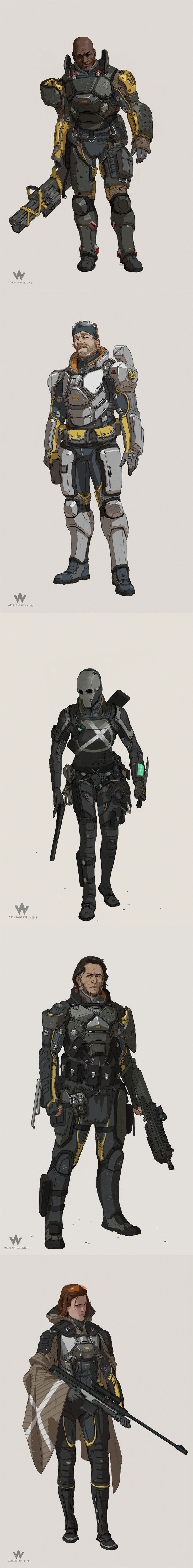 Sci-Fi Characters by Adrian Wilkins