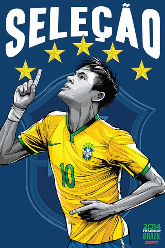 Brazil, Afiches fútbol Copa Mundial Brasil 2014 / World Cup posters by Cristiano Siqueira