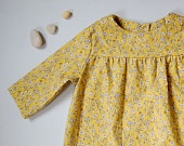 yellow flower tunic for 3T 4T