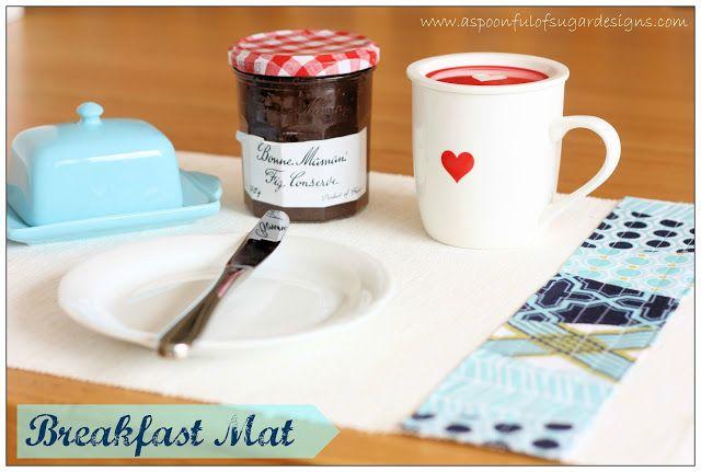 Breakfast Mat {Tutorial} | A Spoonful of Sugar