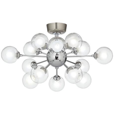 Possini Euro Design Glass Balls 15 Light LED Fan Kit
