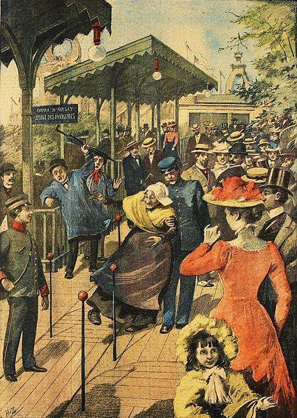 Trottoir roulant de l'exposition universelle 1900 à Paris (Exposition Universelle Paris 1900)