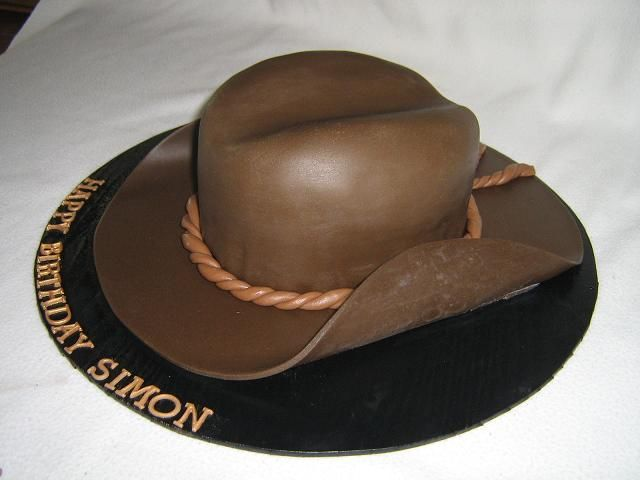 Cowboy hat birthday cakes