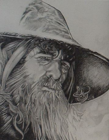 Lord of the Rings  Gandalf. This is an amazing sketch!
