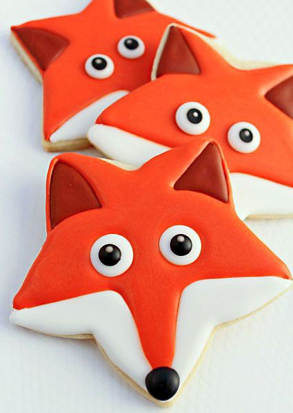 How To Make Fox Cookies with a star-shaped cookie cutter! Great for a Forest Friends Party!