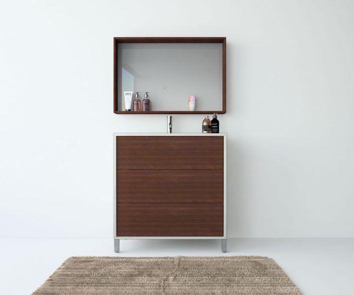 Muebles de baño, propuestas de composiciones para conseguir amplitud en el almacenaje: cajones, puertas correderas, abatibles, huecos vistos, etc. unibaño-compactos-almacenaje-22