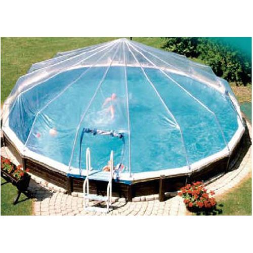 24 Round Complete Vinyl Sun Dome Kit For Aboveground Pool