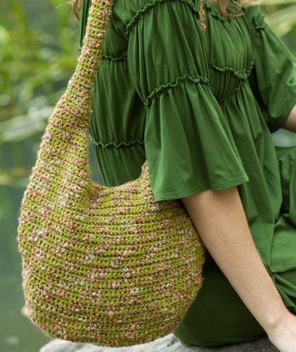 Crochet Hobo Bag. ☀CQ crochet bags baskets totes bolsas borse tote