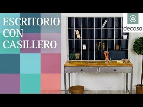 Escritorio con casillero (Tutorial-DIY) | RECICLAJE | Con material de derribo - YouTube