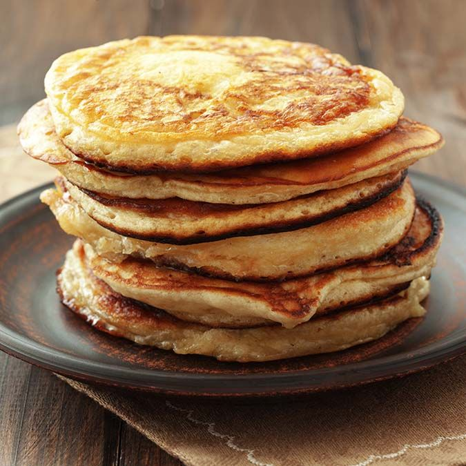 High-Powered Protein Flapjacks – You won't feel sluggish after eating these high-protein pancakes that come together in a snap.