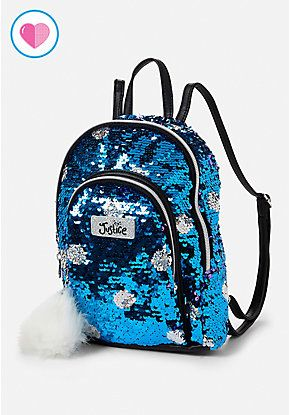 46147504528 Turquoise Flip Sequin Mini Backpack   Travel and On-the-Go ...