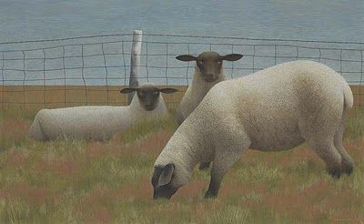 Three Sheep Alex Colville Canadian Artist
