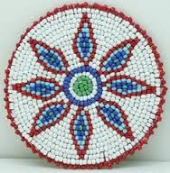 native american beaded medallion patterns - Google Search