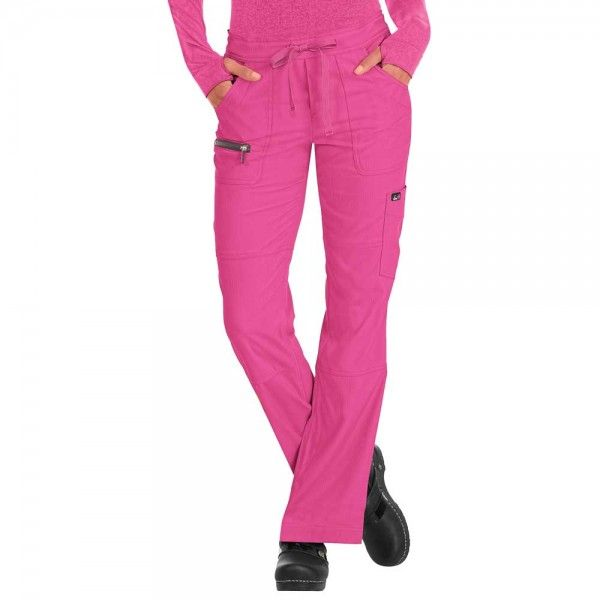 Koi Peace Trousers Flamingo are stylish and  the material is moisture wicking, stretchy, easy wash and wear and wrinkle free, for only £29.99  material used for the trousers is moisture wicking, stretchy, easy wash and wear and wrinkle free. #nursescrubs #dentistuniform #nurses #dentists #pinkscrubs #nurseuniform