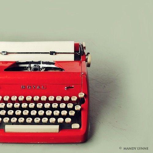 red typewriter print van MandyLynneImagerie op Etsy, $25.00