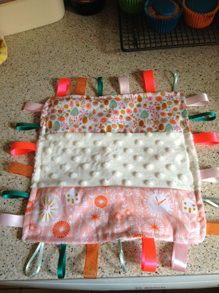 Ribbon blanket for my baby girl to play with
