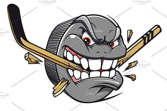 Hockey Puck Mascot Hockey Drawing Hockey Puck Hockey Stick