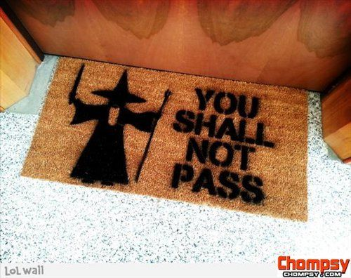 Lord Of The Rings Inspired You Shall Not Pass Door Mat With Gandalf