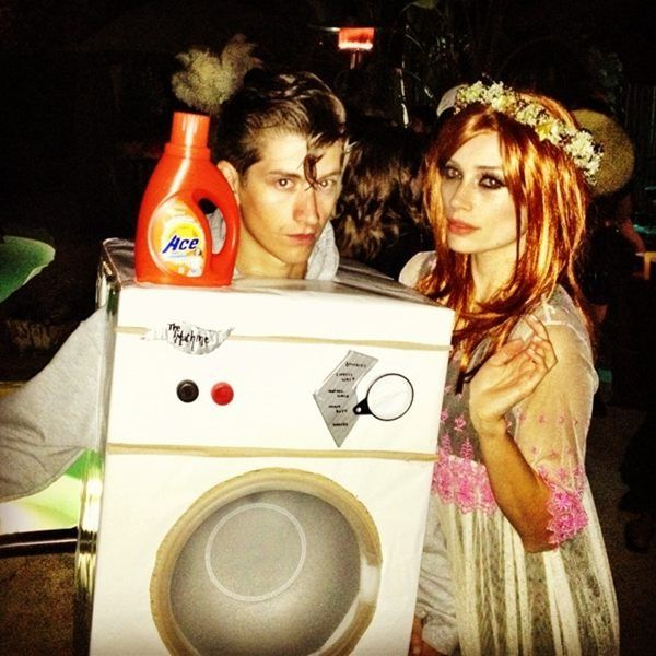 alex turner and arielle vandenberg do florence + the machine for halloween