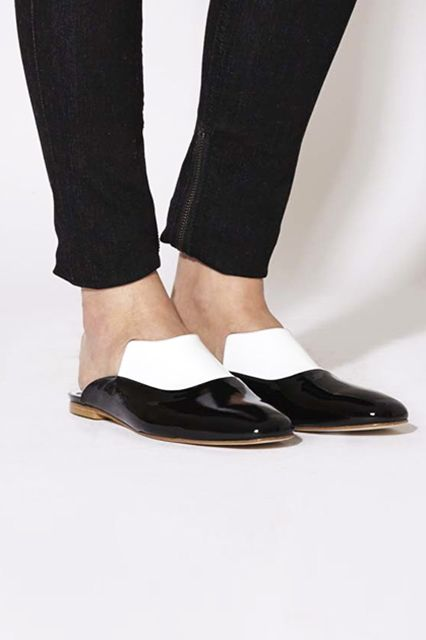 12 Flat Mules To Elevate Your Style #refinery29 http://www.refinery29.com/mules#slide6 Dorateymur Nezahat Mule, $724, available at Celestine Eleven.