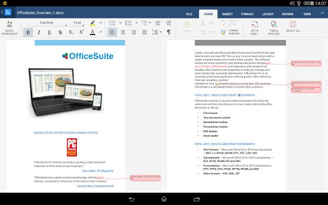Download, application, Officesuite, Pro, 8, free, android, iphone,
