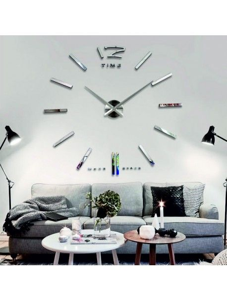 Nalepovací nástěnné hodiny PROFI ZRCADLO SILVER  Kód: 12S003S-S WALL CLOCK PROFI  Stav: Nový produkt  Dostupnost: Skladem  Vyber si barvu podle sebe! Přišel čas zútulnit si své bydlení novými hodinami. Velké nástěnné 3D hodiny jsou krásnou dekorací Vašeho interiéru. Už nikdy nebudete opozdí.