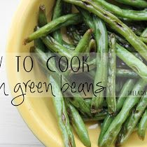 Forgive me if a post on how to cook fresh green beans seems elementary, but I had never cooked fresh green beans in my life until a few mo...