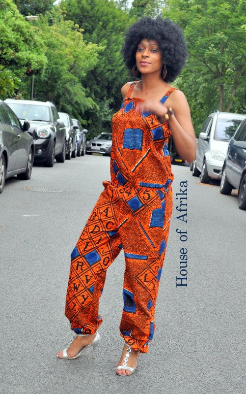 African print Jumpsuit by HouseofAfrika on Etsy