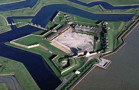 Tilbury Star Fort, Essex, England. It stands on the bank of the River Thames and was built to defend London from attack from the sea by the Spanish Armada and during the Anglo-Dutch Wars.