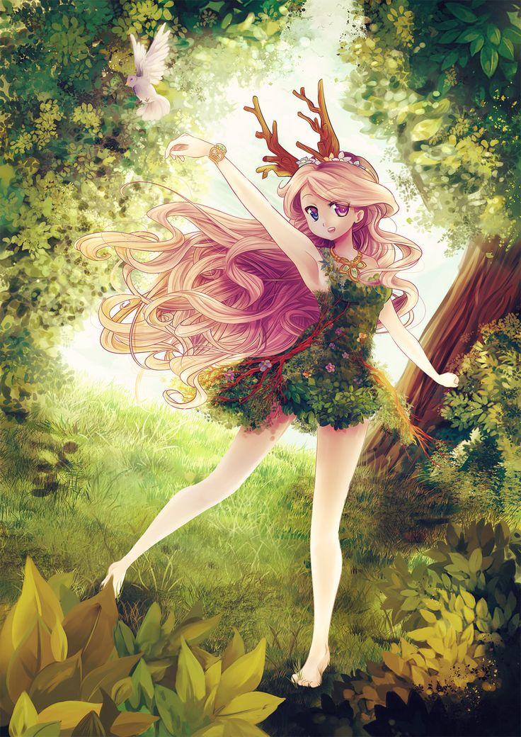 Forest spirit by Ikanu96.deviantart.com on @deviantART