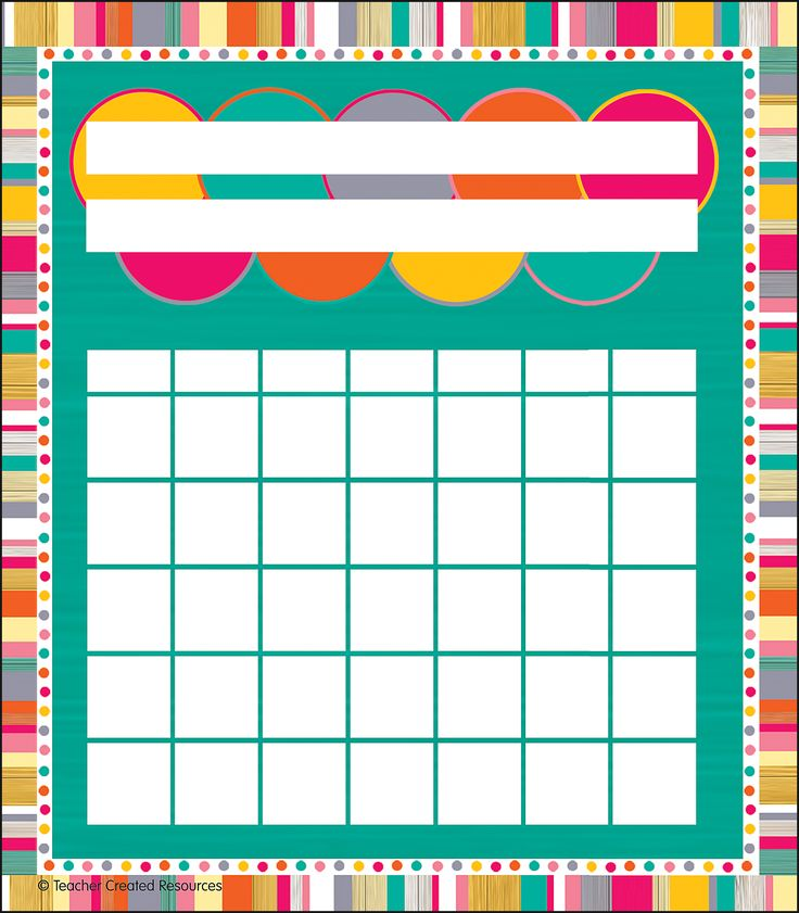 """Tropical Punch Incentive Charts Pack - These charts have 7 columns to accommodate all 7 days of the week! Longer spaces for headings accommodate longer names for children and their tasks. The charts have the same overall dimensions, so they fit in the same space as other charts. Measures approx. 5-1/4"""" x 6"""". 36 sheets per pack."""