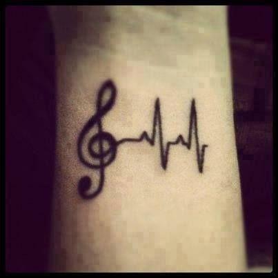 Music + heart. love this tattoo. #music