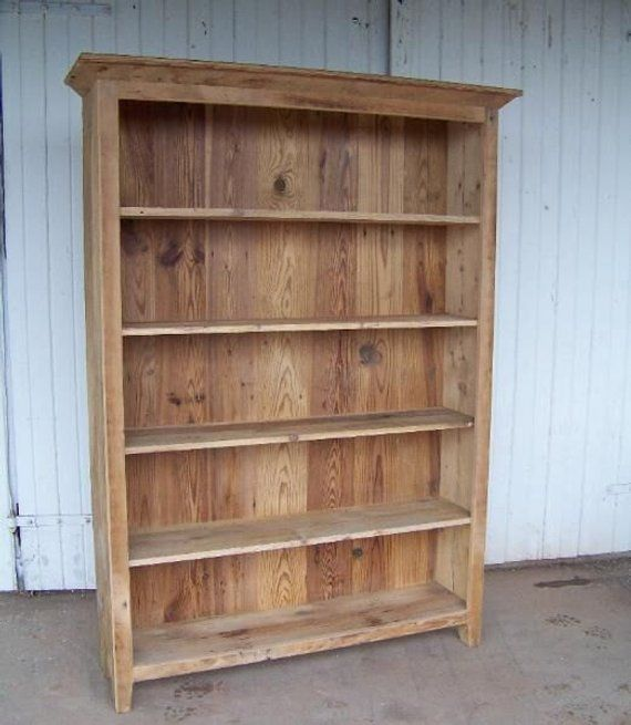 Reclaimed Pine Bookcase Unfinished In 2020 Pine Bookcase Wood