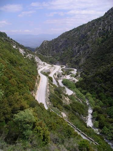 Sparti To Kalamata Scenic Road. Greece