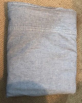 Vintage RALPH LAUREN HOME Chambray Twin Flat Sheet Blue Denim Cotton   | eBay