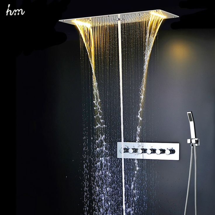 Find More Bath & Shower Faucets Information about Bathroom Shower Set Accessories Faucet Panel Tap Hot and cold water  Mixer LED Ceiling Shower Head Rainfall Waterfall Shower hm,High Quality faucet direct,China faucet distributor Suppliers, Cheap faucet heater from hm Official Store on Aliexpress.com