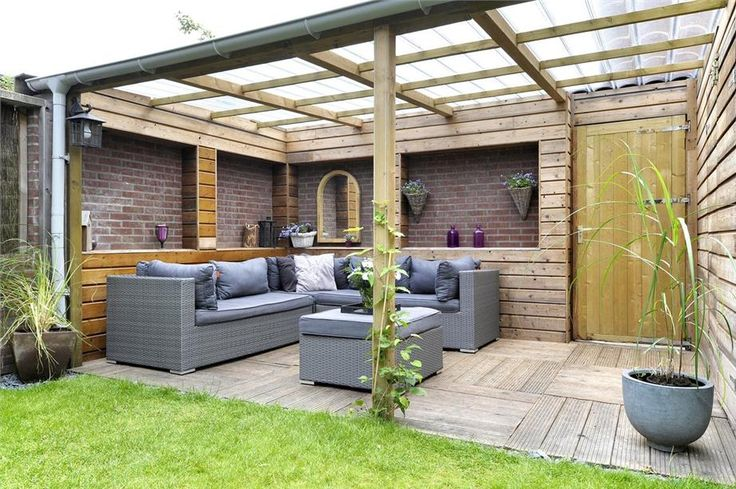 Tuinidee overkapping tuin pinterest verandas and gardens - Tuin idee ...