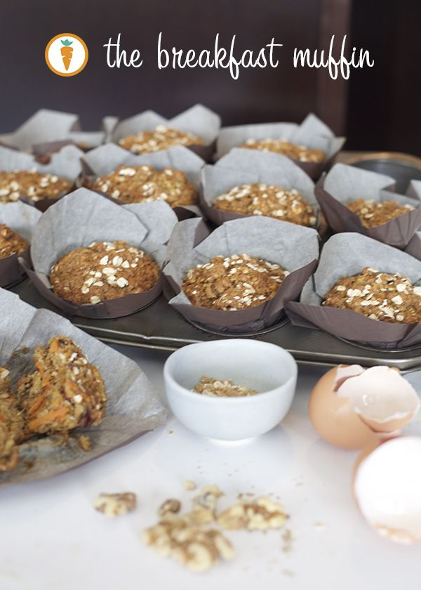 Whole wheat muffins 1 ½ cups whole wheat flour 1 cup quick oats ¾ cup brown sugar 2 tsp baking soda 1 tsp baking powder 1 tsp nutmeg 1 tsp cinnamon ⅓ tsp salt 2 cups grated carrot (about two medium sized carrots) 1 large ripe banana, mashed ½ cup dried cranberries ½ cup chopped walnuts ½ cup unsweetened coconut, shredded 2 eggs 2 tbsp canola oil ¾ cup apple sauce 2 tsp vanilla ½ cup milk