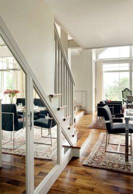 Mirrored under-stairs closet    Under-Stairs Storage Solutions | Stair Storage | HouseLogic